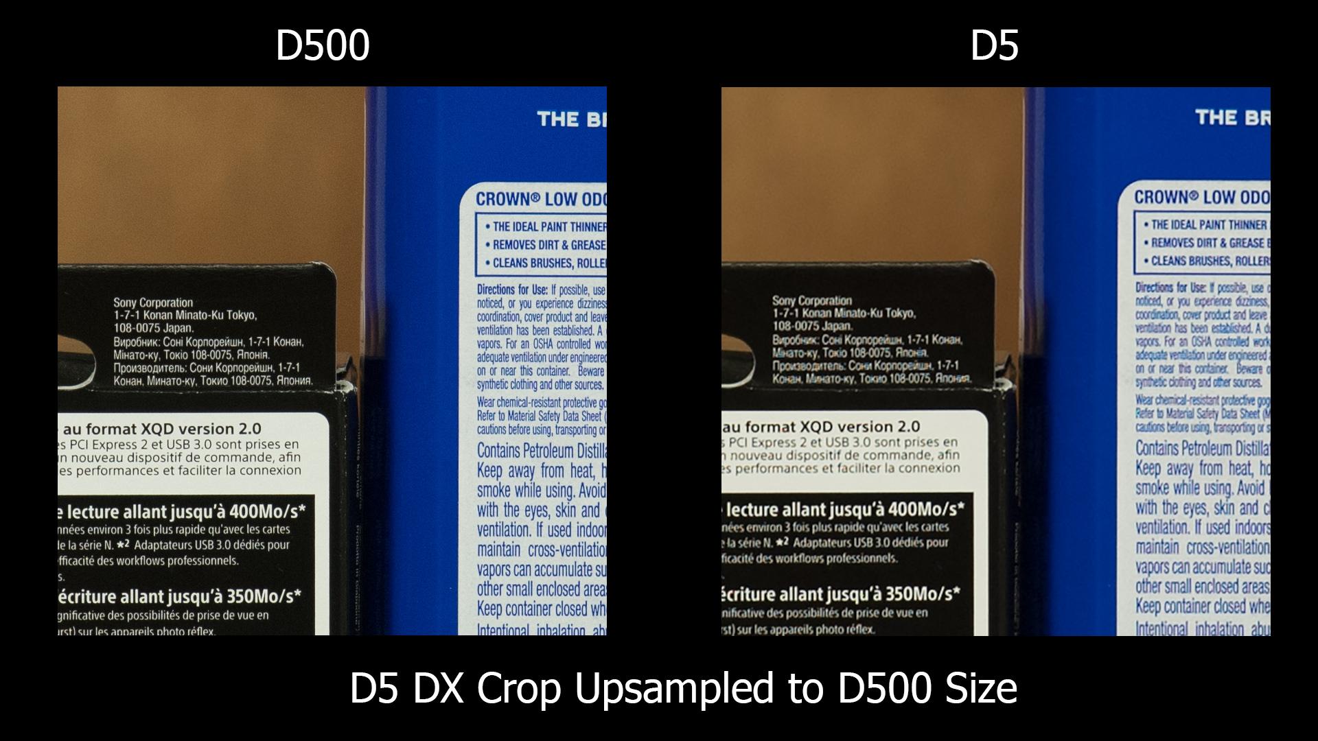 D500 v D5 (upsized)