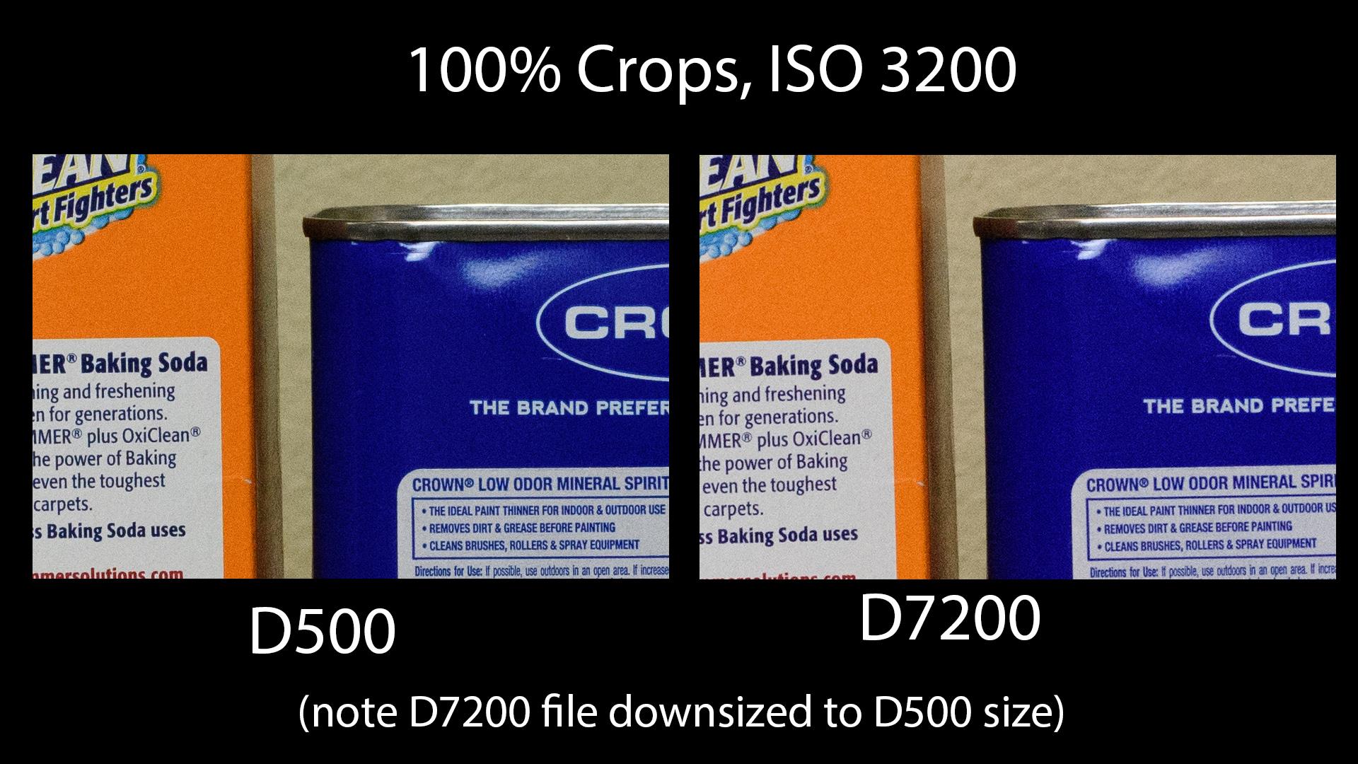 D500 vs D7200 - 3200 ISO
