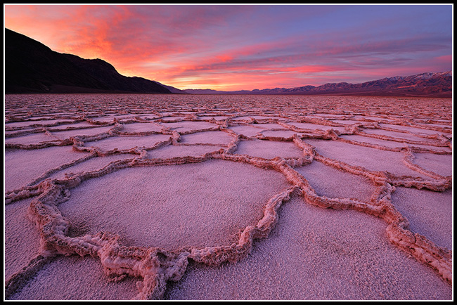 Badwater Sunrise Over Salt Flats, Death Valley