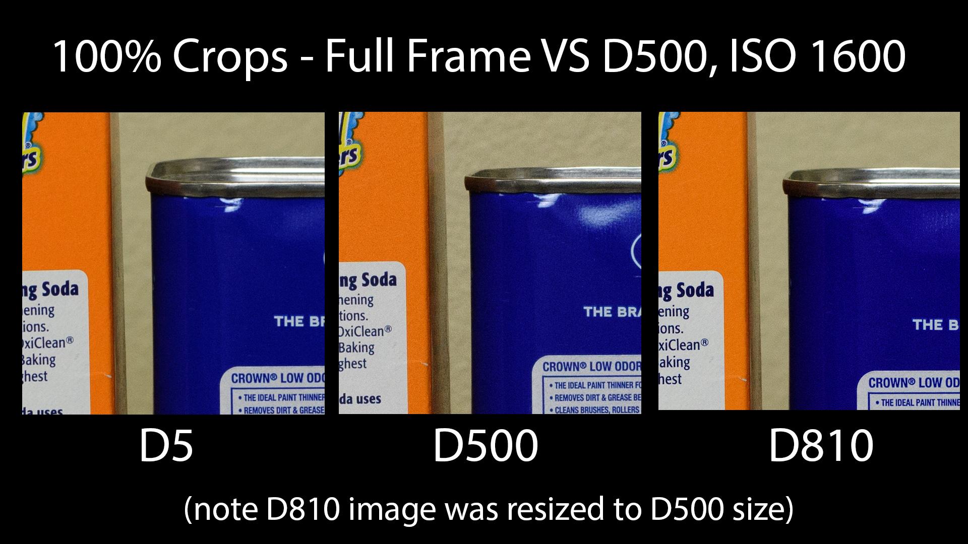 D500 vs FX Cameras ISO 1600