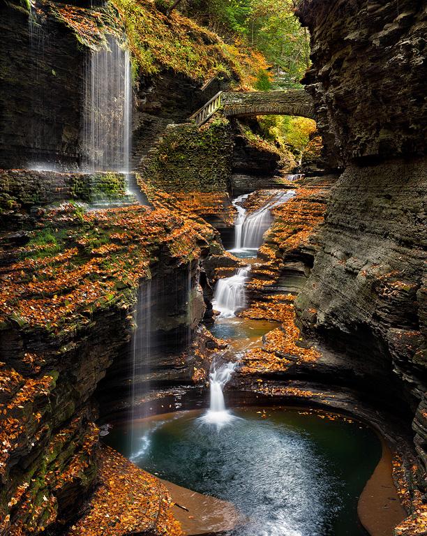 WatkinsGlen-Rainbow-Falls-Autumn