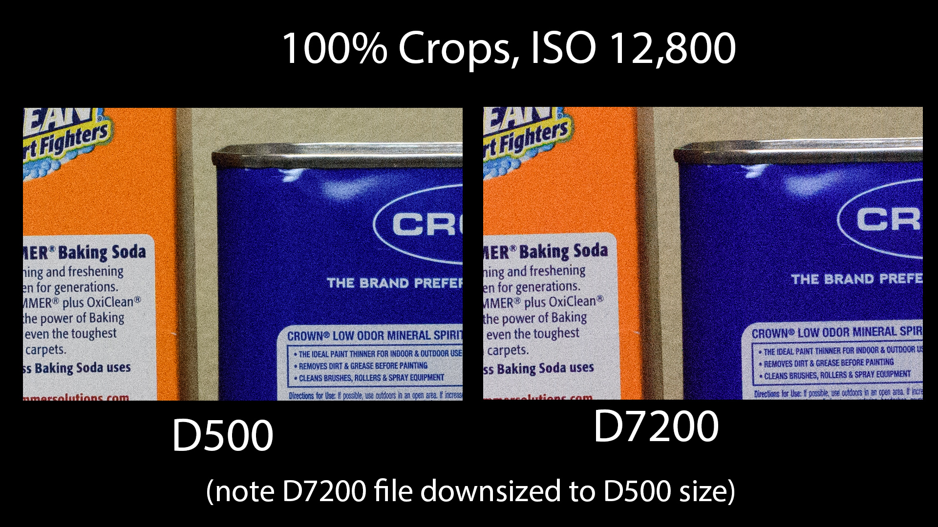 d500 vs d7200 1600 ISO