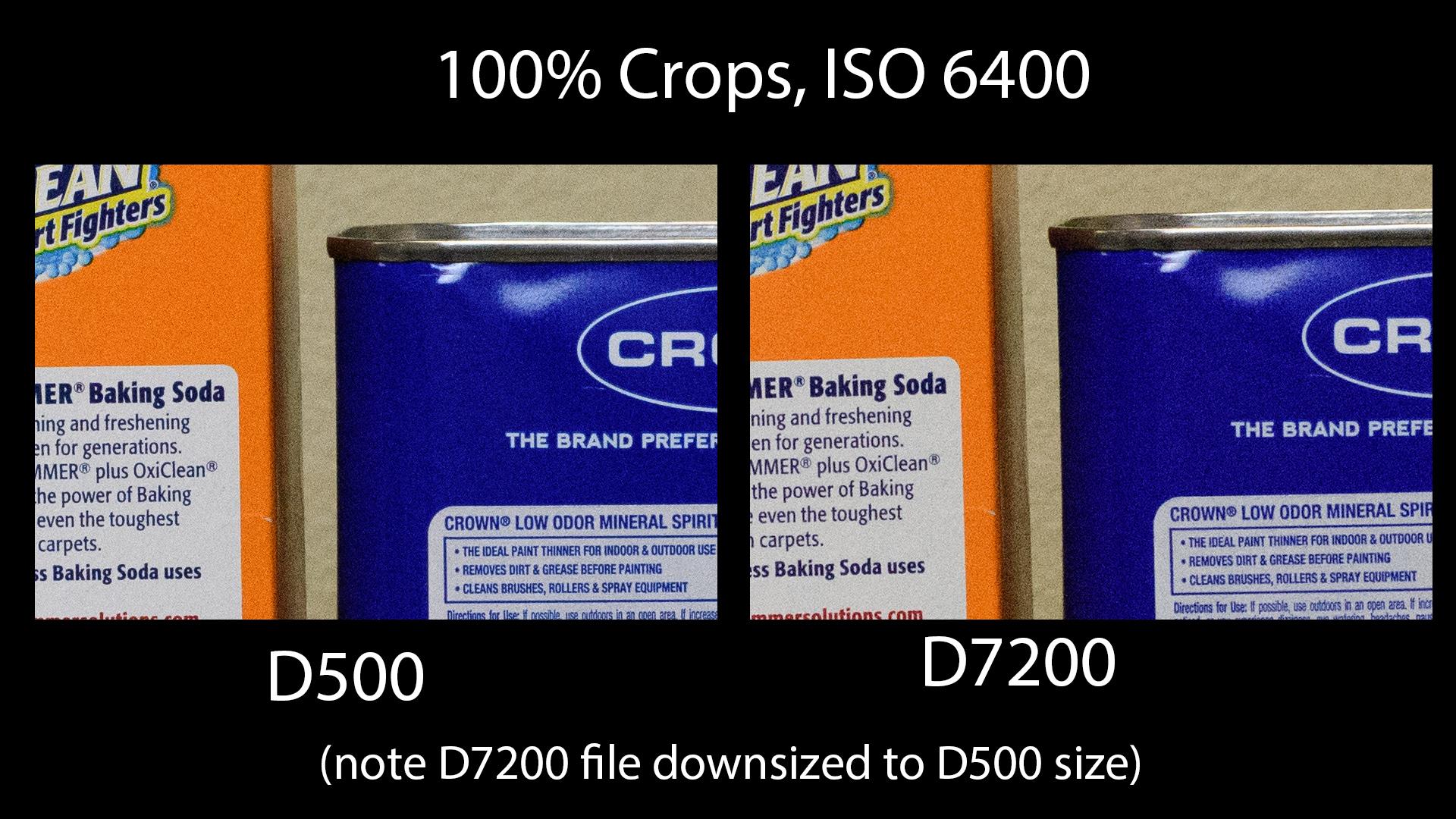 D500 Vs D7200 - 6400 ISO