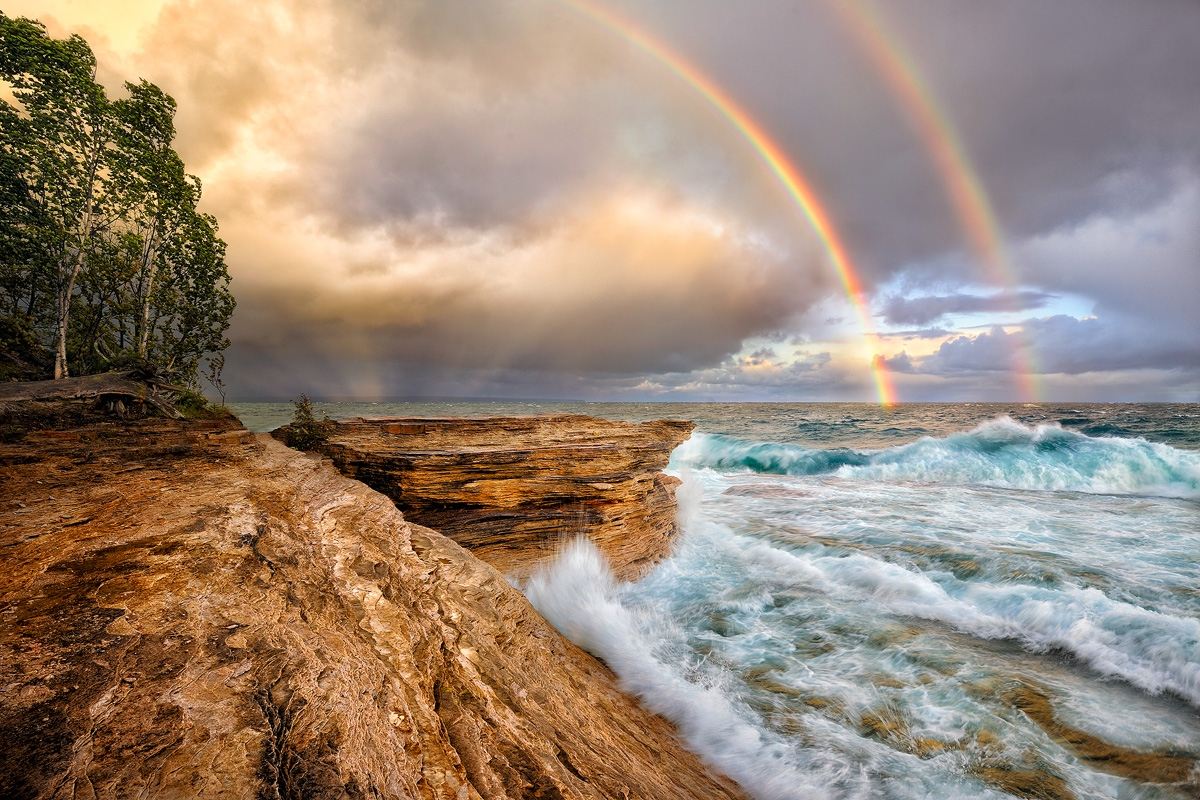 mosquito beach stormy rainbows